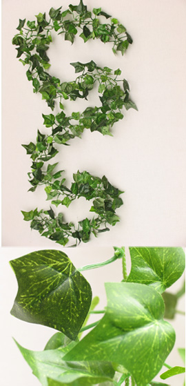 3x+Artificial+6ft+%28183cms%29+Mini+Ivy+Leaves+Garlands+in+Dark+Green+for+Inside+%26+Outside